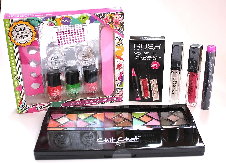 Kit completo de maquillaje y maniucura para adolescentes, con 4 ...