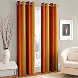 Curtain - Nice Quality Finishing -1 Pc (One Pc) Long Door Size 4 Feet x 9 Feet -Home 75% Blackout Panel Curtains- Anti Rust Eyelets-Durable Curtains by Weave Well