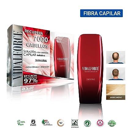 Fibras Capilares/Rubio Medio 40G/ Envase Que Aplica La Fibra Sin Agitar Y Sin