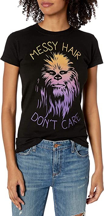 Star Wars Womens Messy Hair Dont Care Chewie T-Shirt
