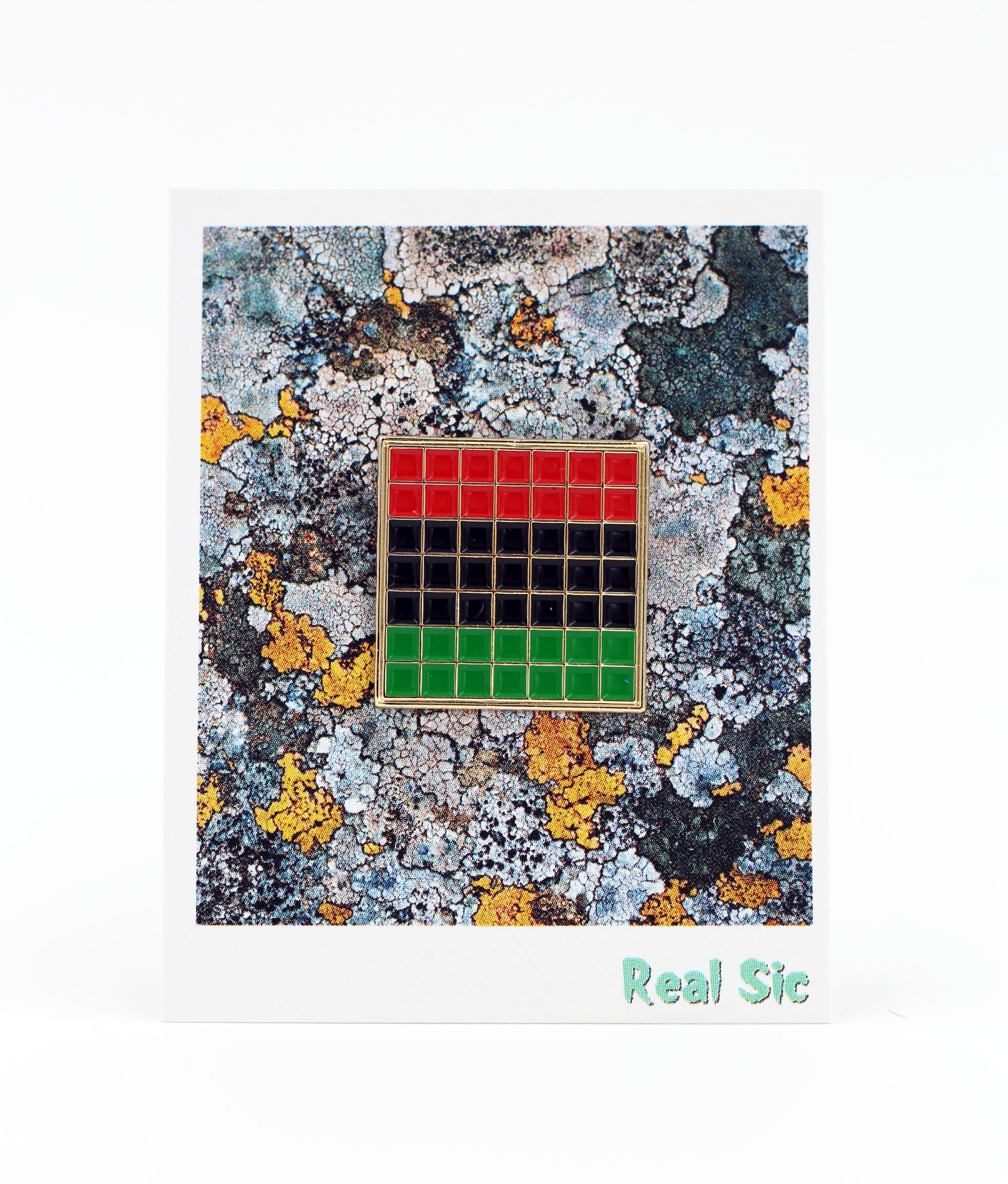 Pan African Pride Flag Enamel Pin - Black Lives Matter Lapel Pin Collection by Real Sic - Premium Grid Pins Series by Real Sic (Image #2)