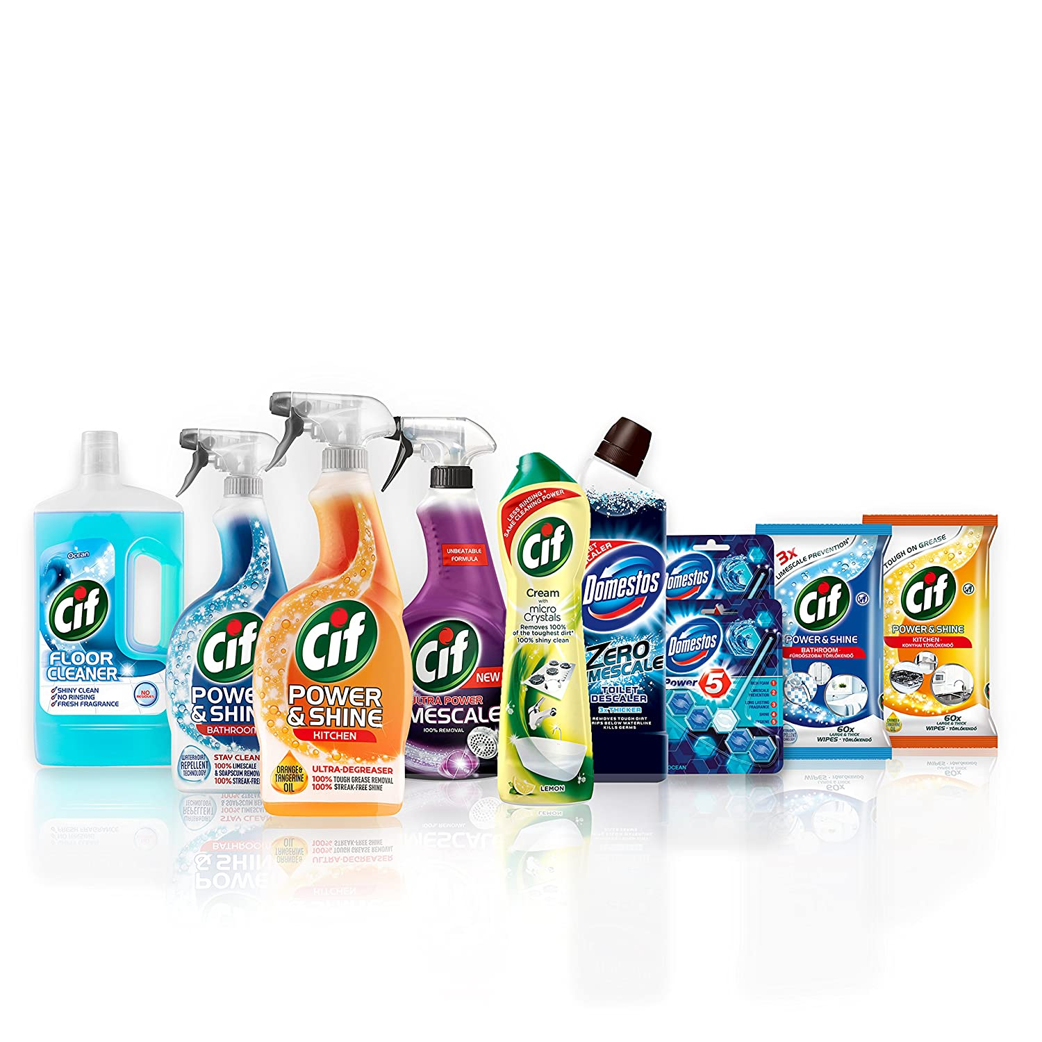 Cif and Domestos Ultimate Student Cleaning Kit, 10 items Unilever UK Limited 8710447325872