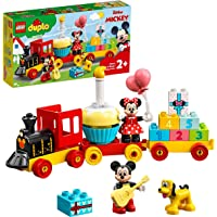 LEGO 10941 Duplo Disney Tren de Cumpleaños de Mickey y Minnie, Tren de Juguete para Niños, Incluye a Pastel y Globos de…