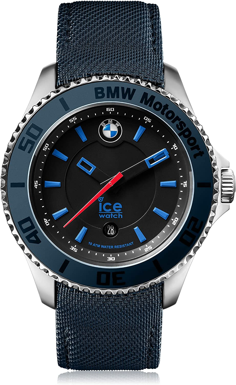 Ice-Watch - BMW Motorsport (Steel) Dark & Light Be - Reloj Azul para Hombre con Correa de Cuero