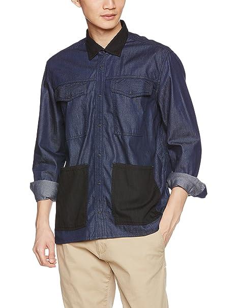 Diesel D-Filip Camisa Hombre (L, Azul): Amazon.es: Ropa y accesorios