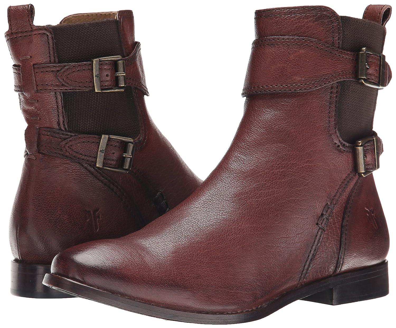 FRYE Women's Anna Gore Short Buffalo Leather Boot B00R54WHUU 7 B(M) US|Chocolate-74651