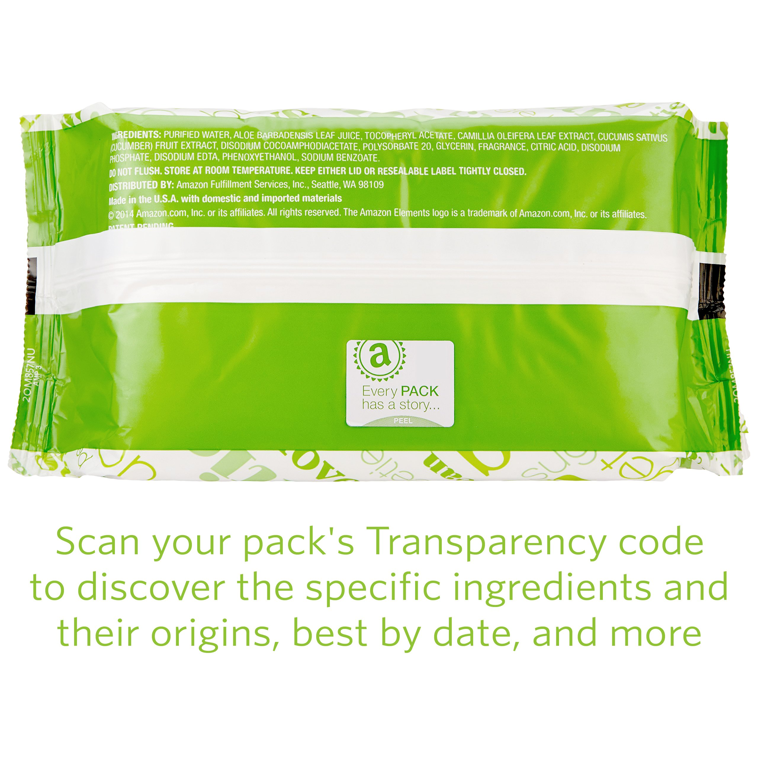 Amazon Elements Baby Wipes, Fresh Scent, 480 Count, Flip-Top Packs by Amazon Elements (Image #8)
