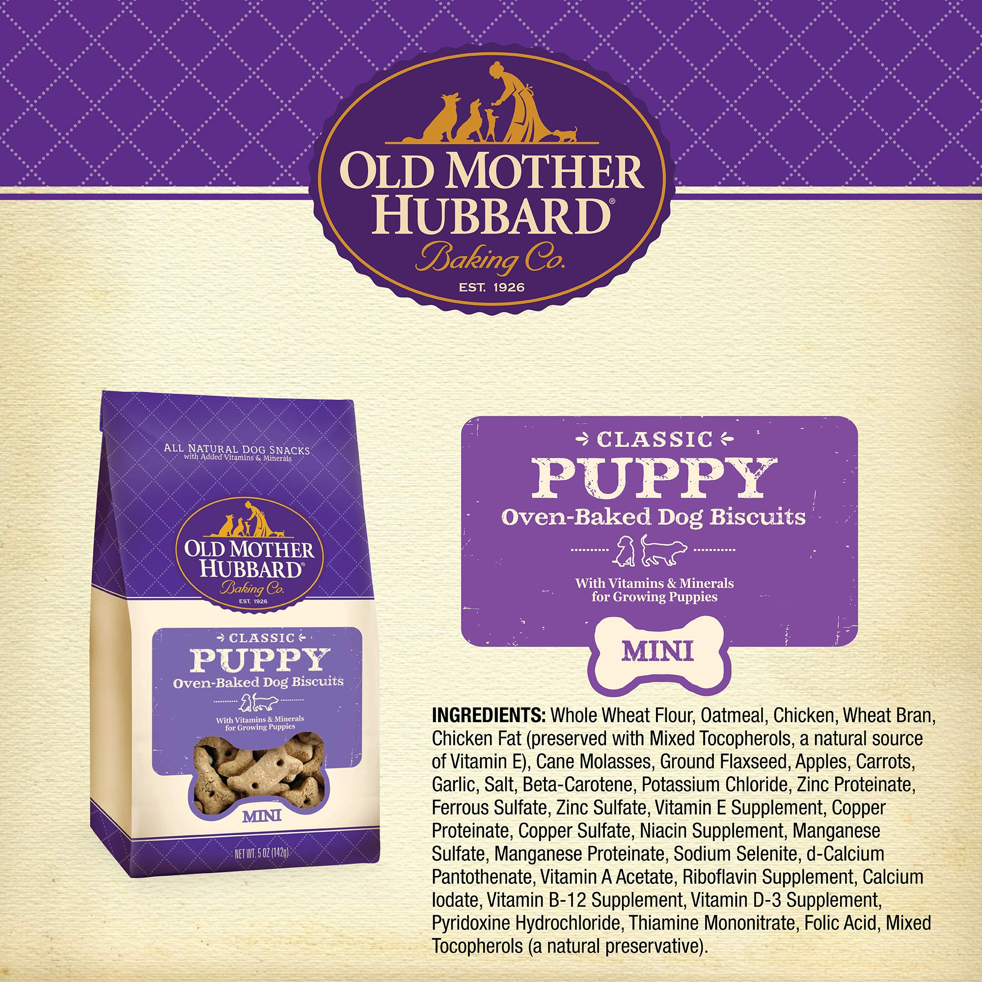 Old Mother Hubbard Classic Crunchy Natural Puppy Treats, Mini Dog Biscuits, 5-Ounce Bag by Old Mother Hubbard (Image #2)
