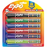EXPO Dry Erase Markers with Ink Indicator, Chisel Tip, Assorted Colors, 6 Pack