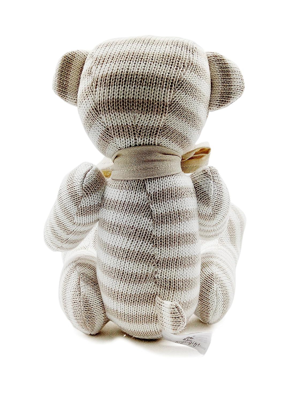 Kiyi-Gift Giocattoli di pezza Consolatore Bambino molle /& sveglia Giocattolo Peluche Orso con Cuore Cotone Organico per bambino//infante