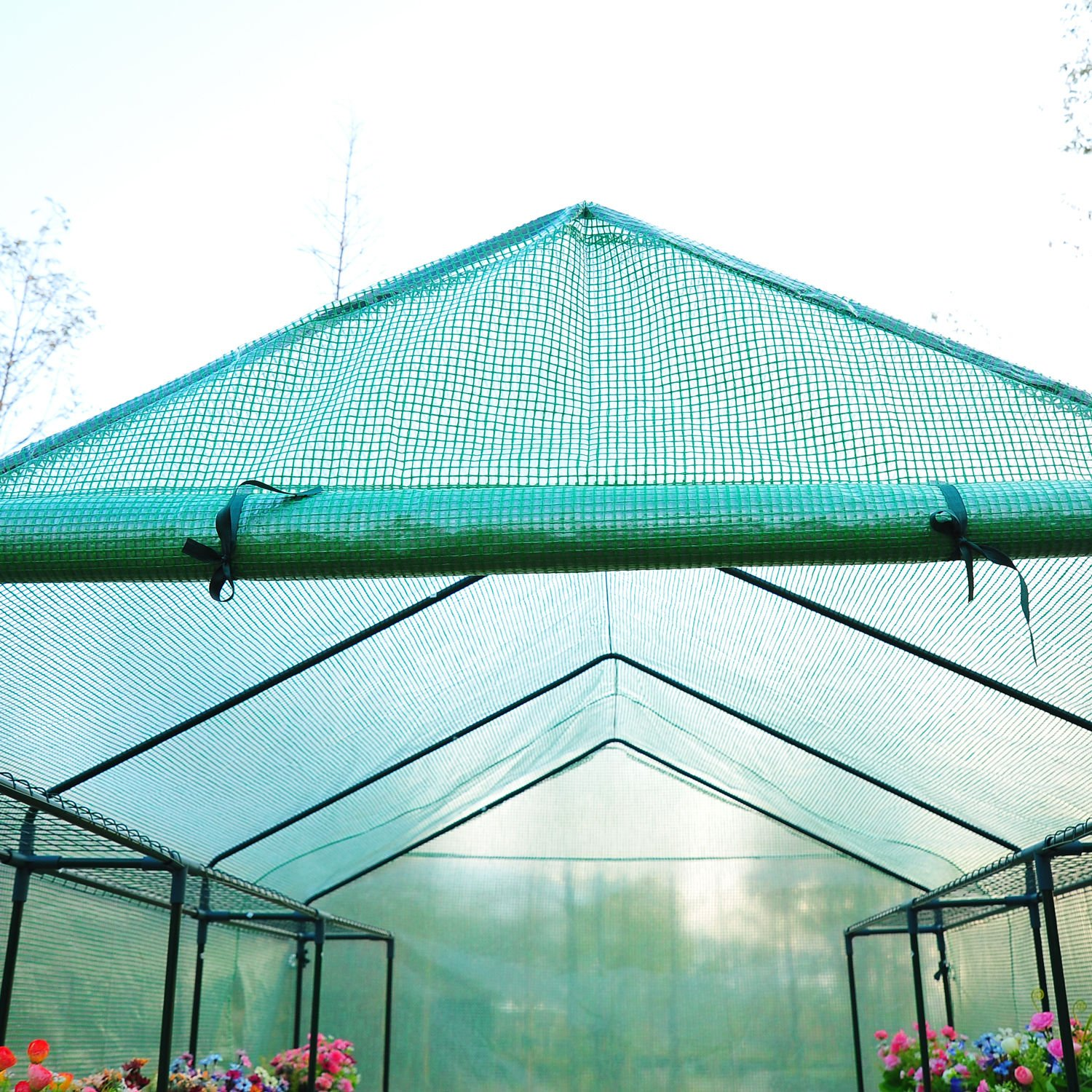 Outsunny 8' x 6' x 7' Outdoor Portable Walk-in Greenhouse by Outsunny (Image #8)