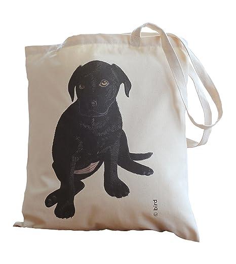 stampa Labrador Amazon Puppy borsa Valigeria it Black di tela q4EdqAn
