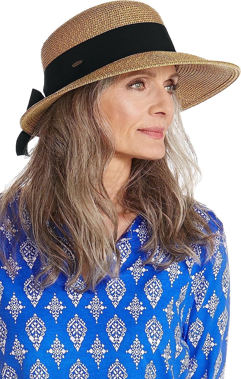 Coolibar UPF 50+ Women's Perla Packable Wide Brim Hat - Sun Protective