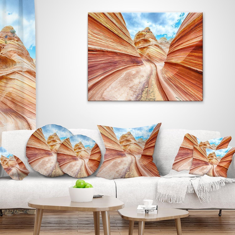 Designart CU9335-18-18 Swirling Dune Sandstones Landscape Photo Cushion Cover for Living Room Sofa Throw Pillow 18 x 18
