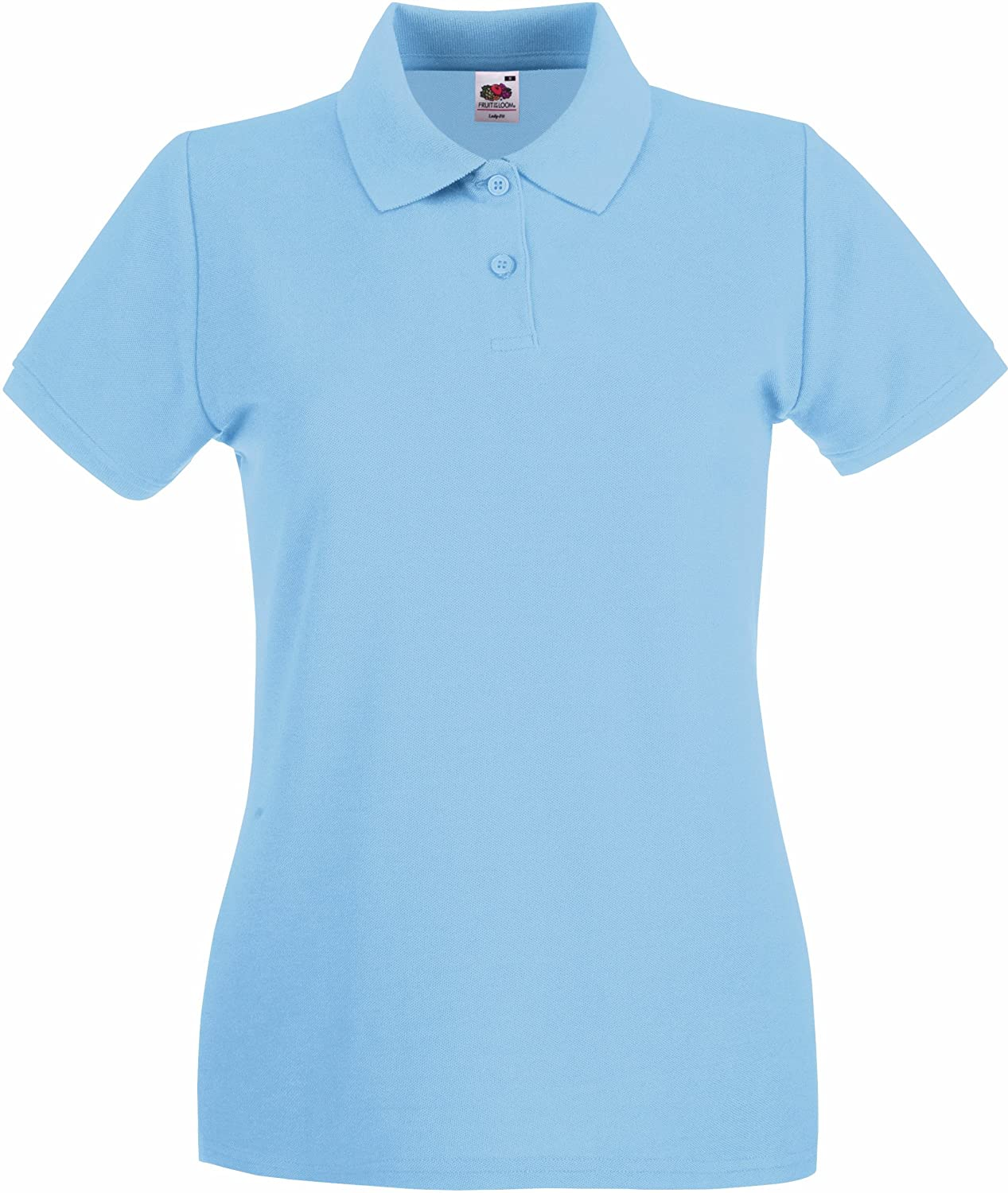 Lady-Fit Premium Poloshirt XL / 16, Sky Blue