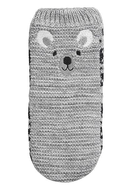 next Niños Calcetines Tipo Pantufla Con Diseño De Oso (Niño Pequeño) Azul/Gris