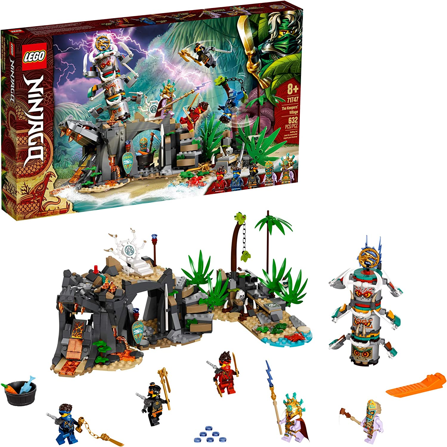 LEGO NINJAGO The Keepers' Village 71747 Building Kit; Ninja Playset Featuring NINJAGO Cole, Jay and Kai; Cool Toys for Kids Aged 8 and Up Who Love Ninjas and Creative Play, New 2021 (632 Pieces)