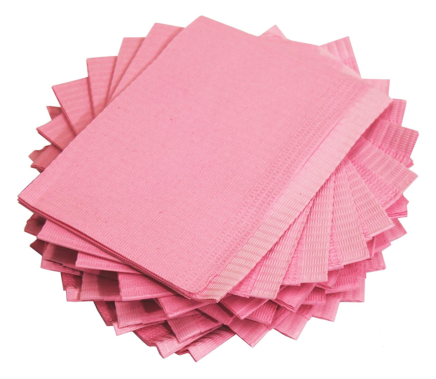 Adenna Dental Bibs/Lap Cloths, Pink (Box of 500)