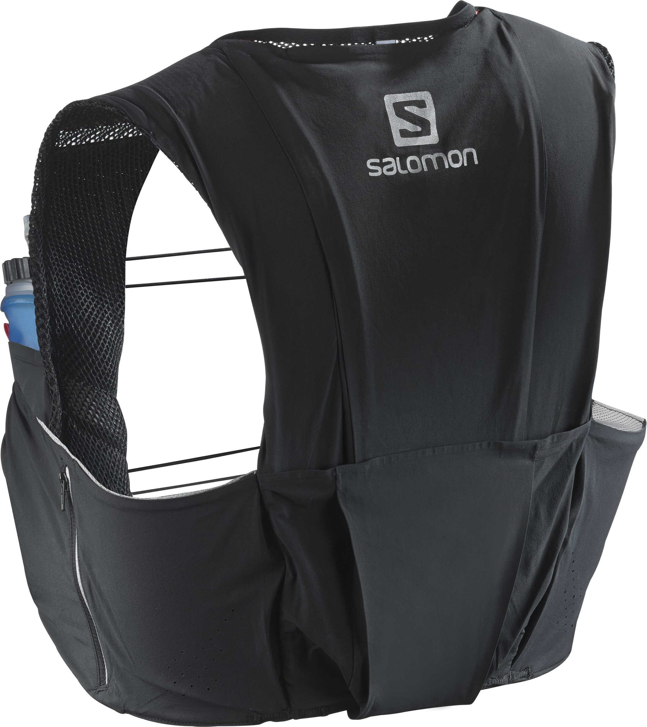 Salomon Unisex S-Lab Sense Ultra 8 Set Backpack, Black, Racing Red, XL