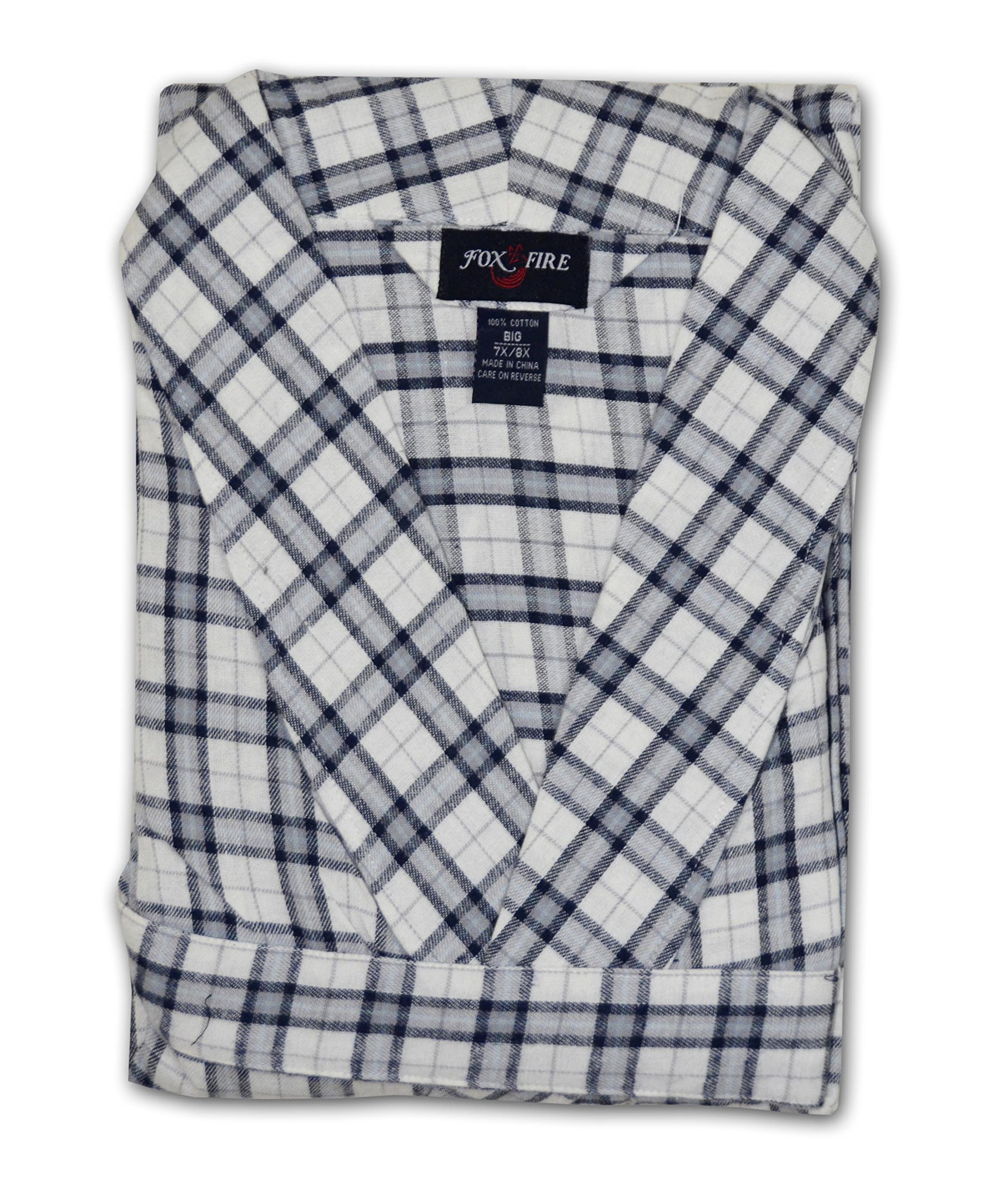 Foxfire Big and Tall Flannel Robe - Assorted (Assorted 7/8X)