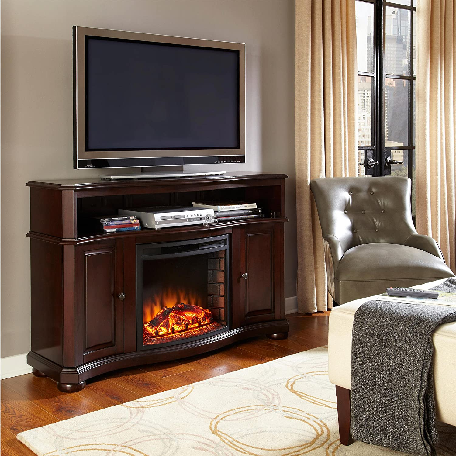 brown electric console canada en fireplace ip edgewood dorel walmart tv