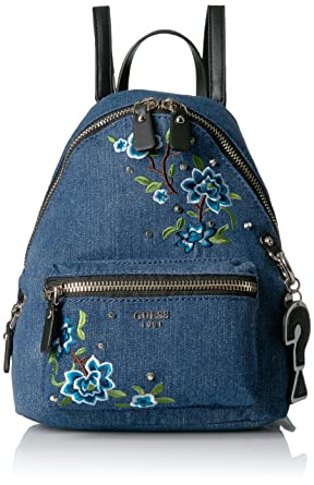 9cad7d78d2f GUESS Cool School Small Leeza Backpack, Denim: Amazon.in: Clothing ...