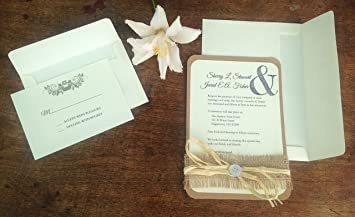 amazon com customizable rustic wedding invitations kitchen dining
