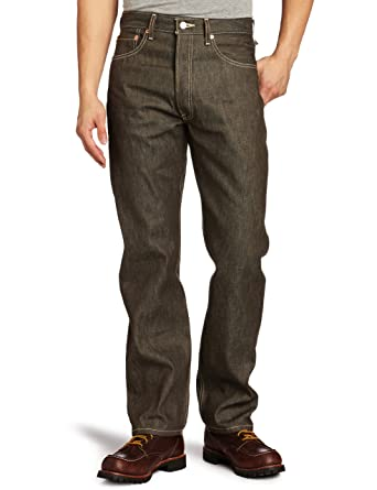 Levis 501 Levis Original Fit Vaqueros, Marrón (Brown Rigid Stf 0633), 35W / 34L para Hombre