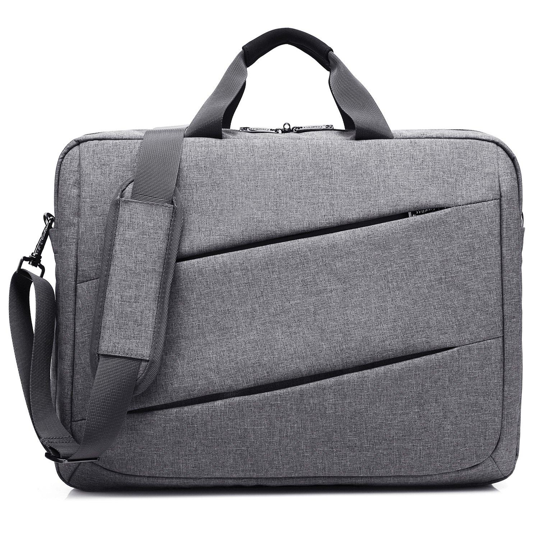 CoolBELL 17.3 inch Laptop Messenger Bag Multi-Functional Briefcase Multi-Compartment Handbag Include Shoulder Strap for MacBook/Acer / HP/Dell Alienware/Lenovo / Men/Women (Black) 4328535322