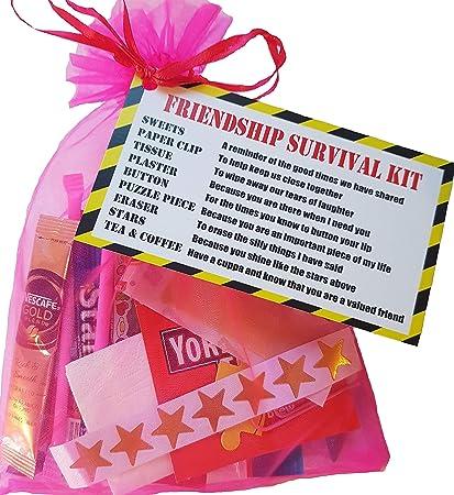 Kit de supervivencia de amistad; un regalo para hacer sonreír a tus amigos, ideal para Navidad, cumpleaños, etc.: Amazon.es: Oficina y papelería