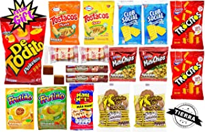 Colombian Snack Assorted Gift Box - Jumbo Size Of 20 Delicious Pieces - Sweet & Salty International Snacks - Most Famous Colombian Food (Colombia Tierra querida, 20 Pieces)