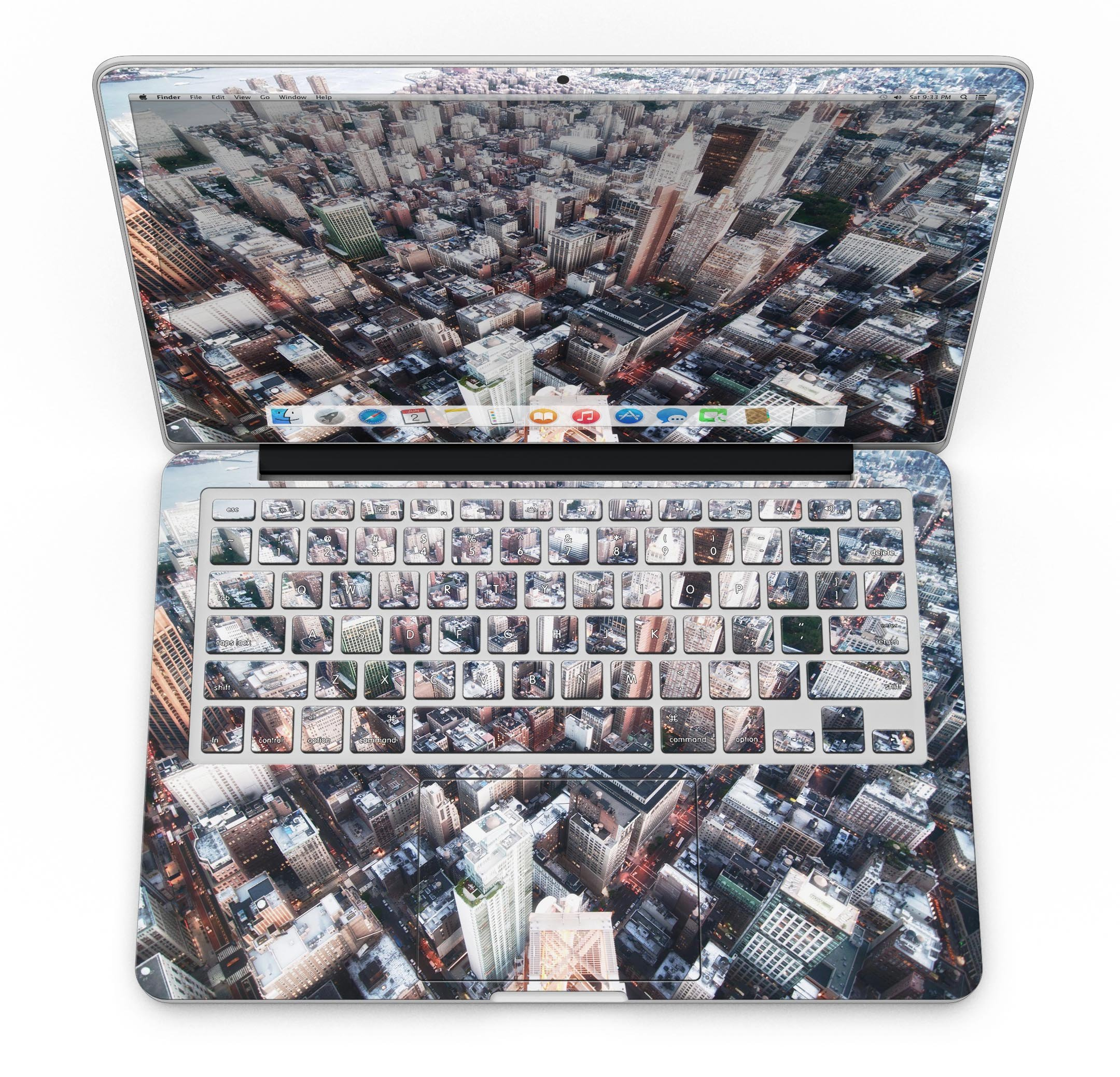 Vintage Aerial Cityscape - MacBook Pro with Retina Display Full-Coverage Skin Kit by iiRov (Image #4)