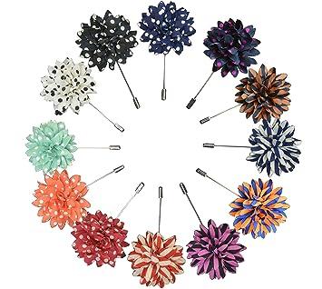 Amazon.com: Lapel Pin Flor Boutonniere para traje de flores ...