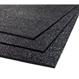"""ABS Plastic Sheet 3-pack 12"""" X 24"""" X 0.0625"""" (1/16"""") 3 Pack, Black Haircell, for VEX Robotics Teams, Hobby, DIY, Industrial."""
