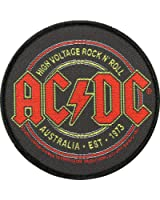 AC / DC HIGH VOLTAGE Sew ROCK N ROLL Woven Patch 9 CM by AC/DC