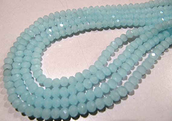 25 Strand Natural Chalcedony Micro Faceted Rondelle Beads 2-2.25mm 17 Strand
