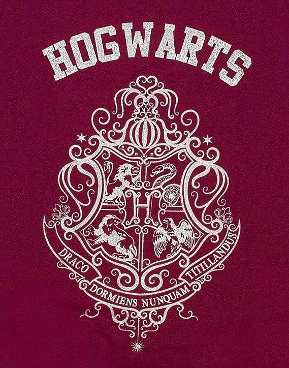 HARRY POTTER Poudlard Crest Glitter Print Girls Long OU Short Leg Pyjamas