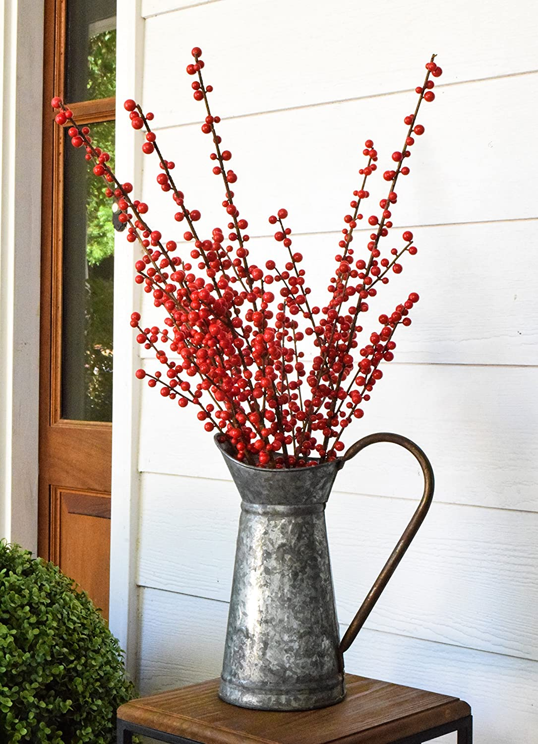 28 Red Indoor/outdoor Berry Sprays (6 Stems) Floral Picks Mills Floral 1132GI9616
