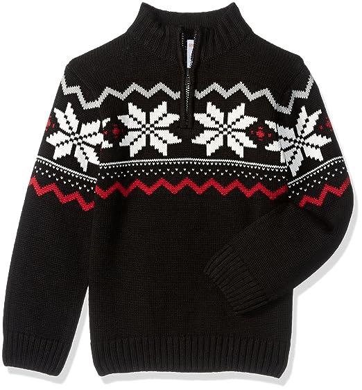 Amazoncom Gymboree Toddler Boys Black Fairisle Sweater Clothing