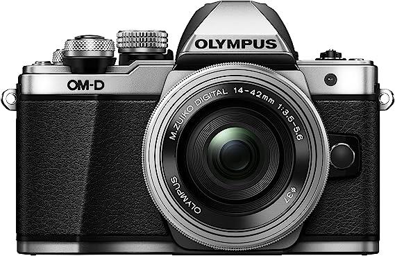 Olympus OM-D E-M10 Mark II Kit, Cámara de Sistema Micro Cuatro Tercios (16 MP, Estabilizador de Imagen de 5 Ejes, Visor Electrónico) + Objetivo Mo 14-42mm EZ Zoom, Plata