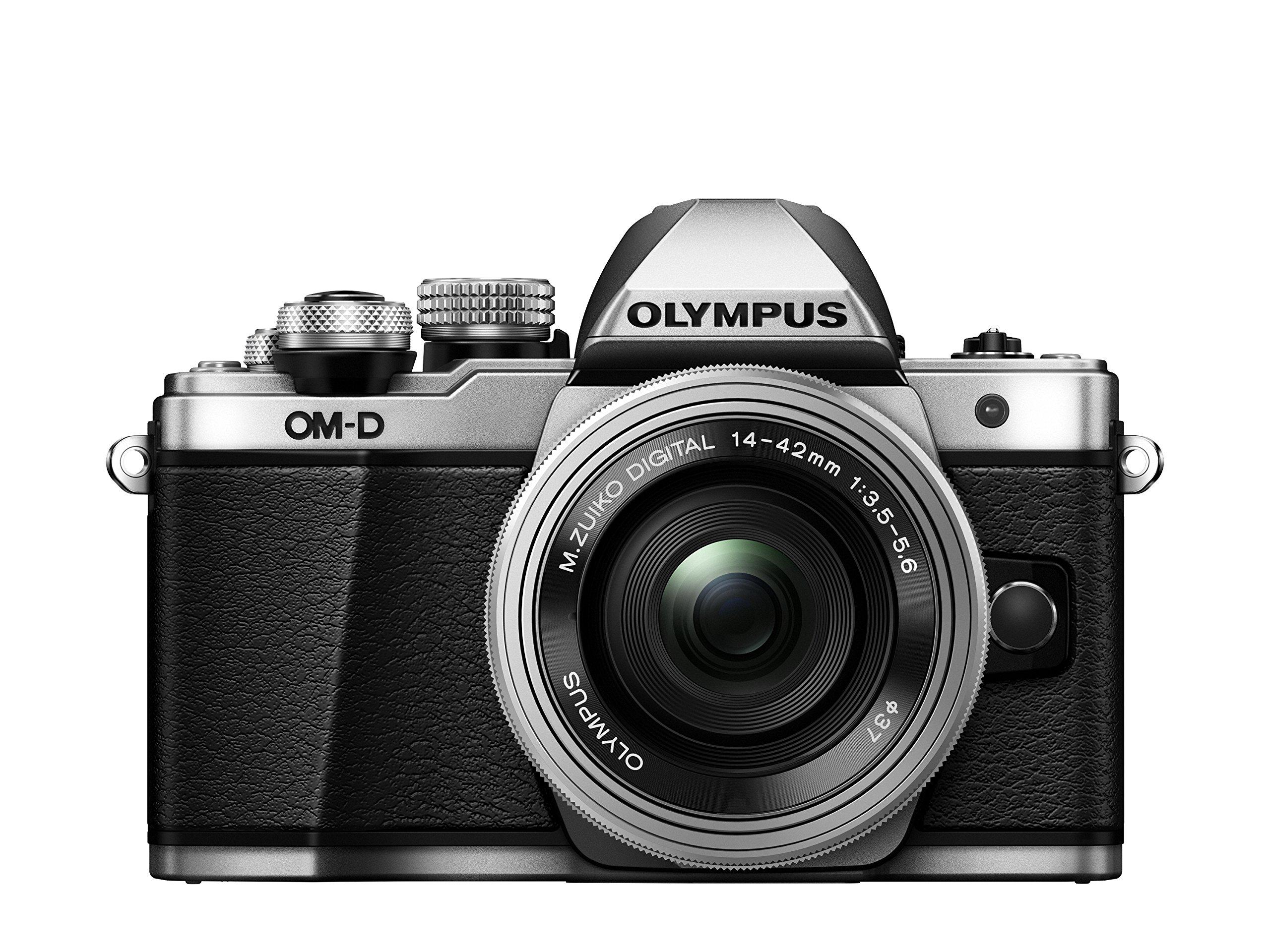 Olympus E-M10 Mark II Kit con Obiettivo M. Zuiko Digital ED 14‑42mm 1:3.5‑5.6 EZ Pancake, Argento product image