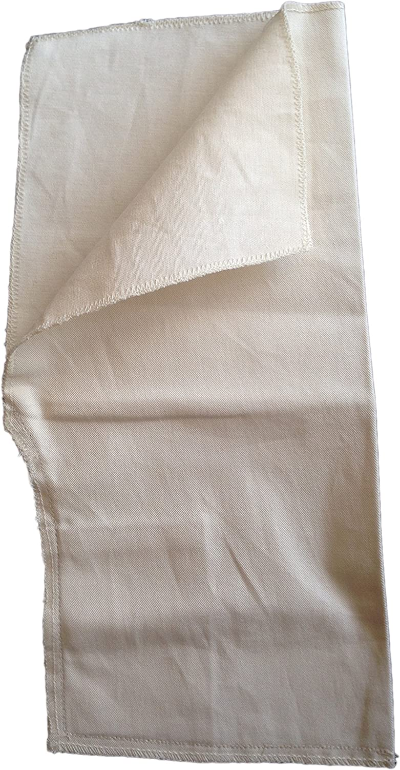 Trouser Pockets Iron On Replacement White Cotton 1 x Pair of Pockets