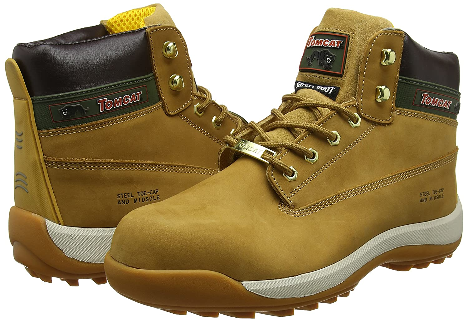 Rock Fall Pro Man Orlando Tc35c S3 Honey Nubuck Steel Toe Cap Work Safety Boots Men's Shoes Boots