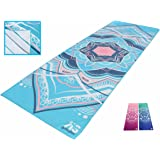 Non Slippery Yoga Towel Designed for Hot Yoga, Pilates & Sports - Non-Slip 100% Microfiber Towels STAY In Place on the Mat - Lint-Free, Ultra Absorbent & Soft - Great Grip for All Your Yogi Toes