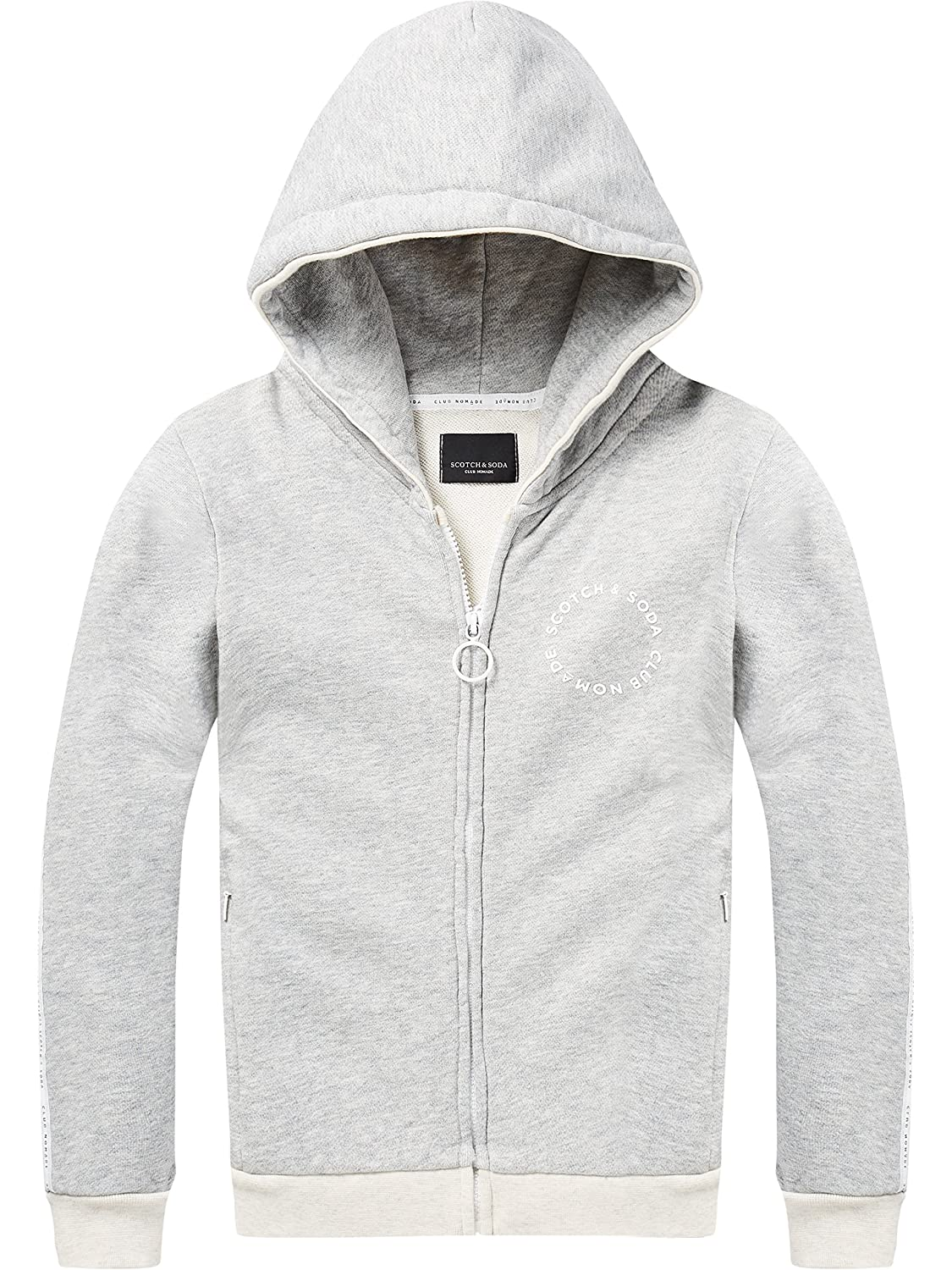 Scotch & Soda Club Nomade Hooded Zip Through Sweat, Felpa Bambino Scotch & Soda Shrunk