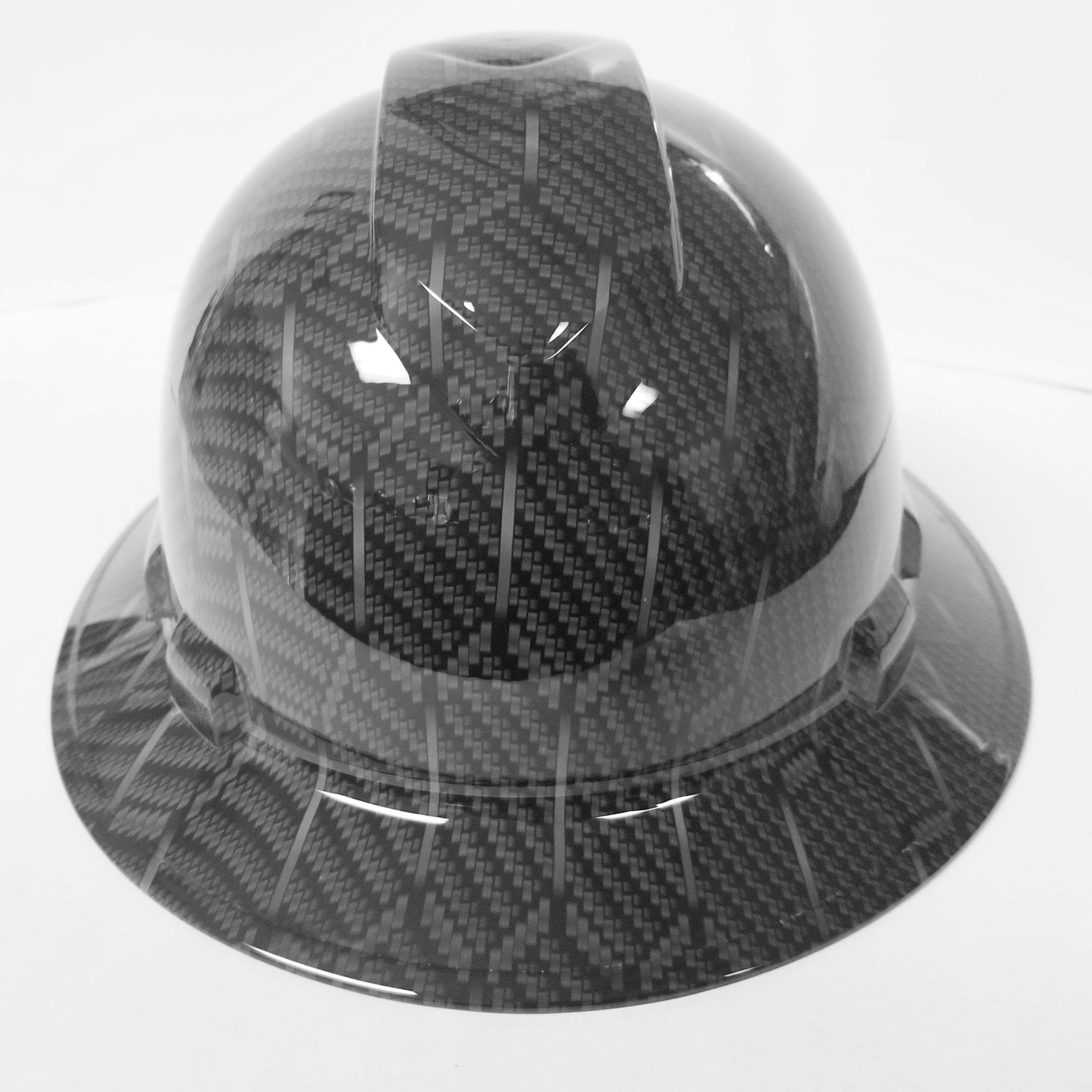 Wet Works Imaging Customized Pyramex Full Brim HEX Weave Carbon Fiber 3D Limited Hard HAT with Ratcheting Suspension Custom LIDS Crazy Sick Construction PPE by Wet Works Imaging (Image #2)