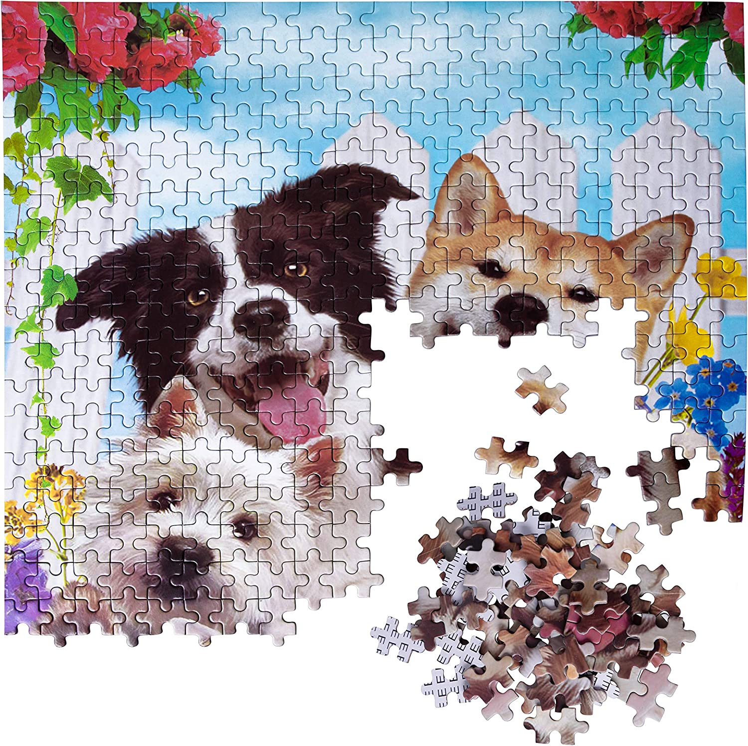 500 PCS Jigsaw Puzzles Educational Intellectual Decompressing Fun Game for Kids Adults Dogs Animals