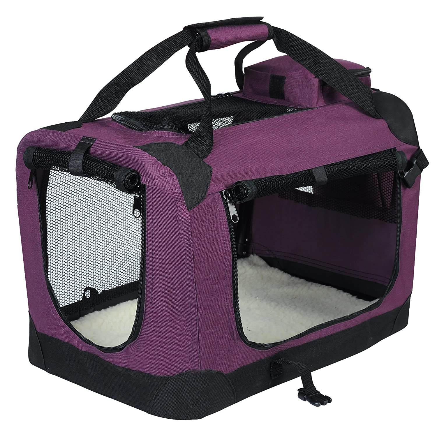 Purple XXXL 102X69X69cmEUGAD Pet Carrier Lightweight Dog Cage Portable Travel Luxury Dog Cat Puppy Bag