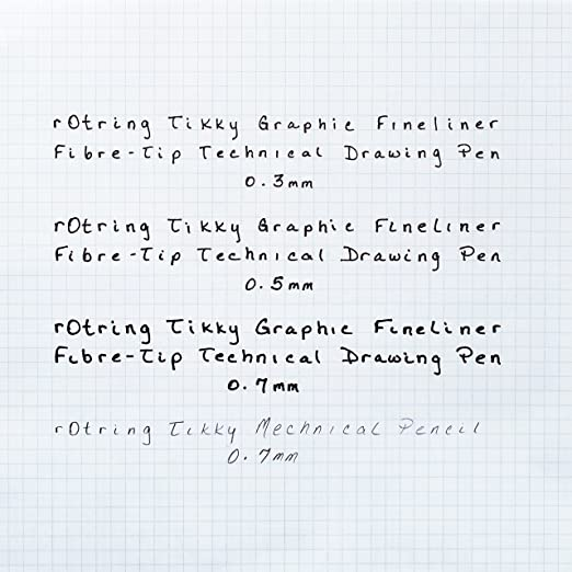 Amazon.com : Rotring Tikky Graphic 0.5mm Technical Drawing Fiber Pen  (1904756) : Office Products