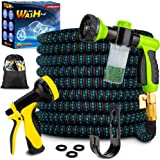 Topidex Car Wash Kit, Expandable Garden Hose 50 FT - with High Pressure Spray Nozzle - Soap Dispensing Sprayer Gun - 9…